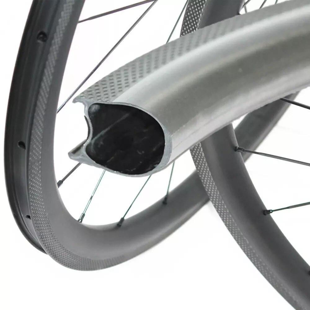 260 degree braking surface 700C Road Bike Carbon Wheels 38mm depth 25mm width with Novatec Powerway DT hub Bicycle Wheelset