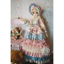Dress Jointed Ball Bjd Dolls Royal Modikerbjd for 1/3 Blue Pink Court-Cake Flowral Long-Sleeve