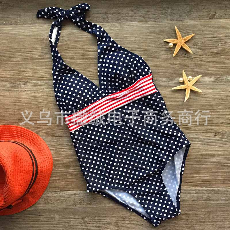 Children's Polka Dot One-Piece Swimsuit One Product Dropshipping EBay AliExpress Hot Selling Model 14 Kids Bathing Suit(China)