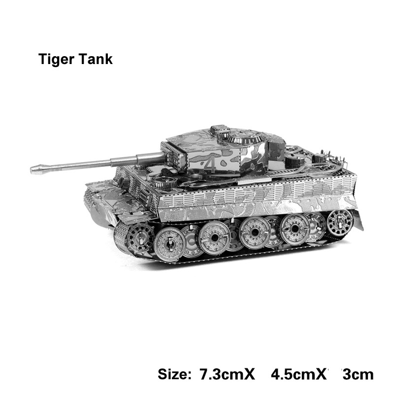3D Metal Tiger Tank Model Puzzle Handmade Collection Toys Education Military Tanks Christmas Gift For Children Adult