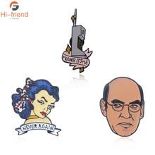 X-Files Enamel Pin Vintage 90s Phone Call Brooch Buckle Shirt Pins for Women Men Cartoon Lapel Jewelry badge Gift