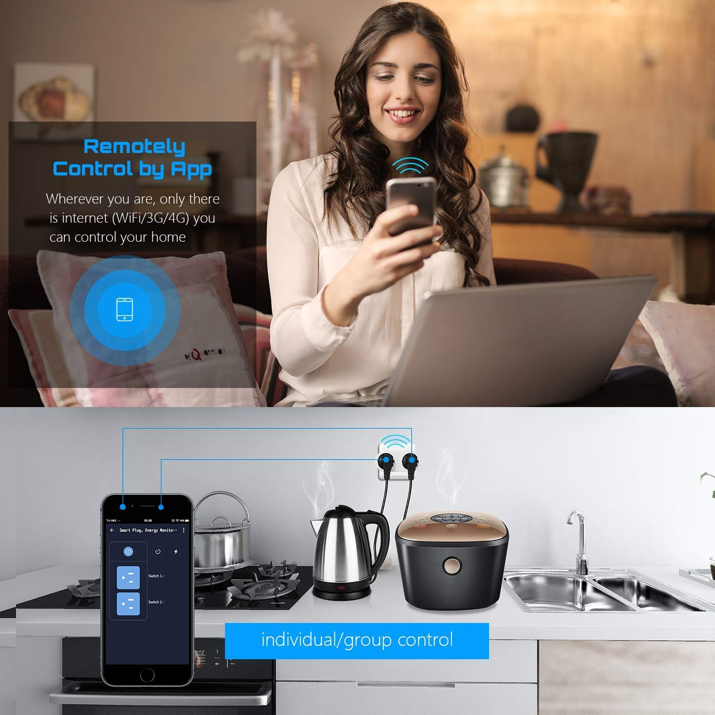 Smart Plug WiFi Wireless EU/FR 16A Plug Socket Outlet Voice Remote Control Works With Google Home Alexa Smart Life Mini