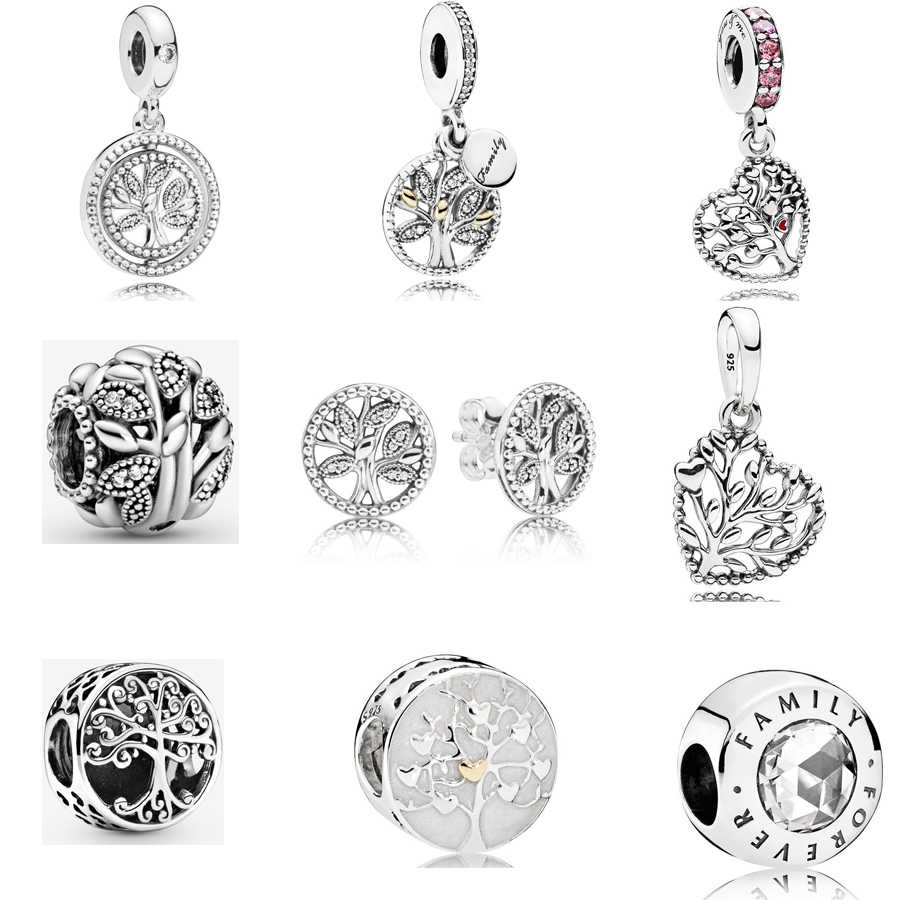 2020 Classic Familie Series 925 Sterling Zilver Familie Erfgoed Charm Fit Pandora Armband Ketting Hanger Diy Sieraden