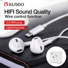 조명 이어폰 유선 헤드폰 HiFi 스테레오 이어폰 Apple iPhone 7 8 Plus 11 Pro X XS Max XR iPad 용 마이크가있는 음악 헤드셋