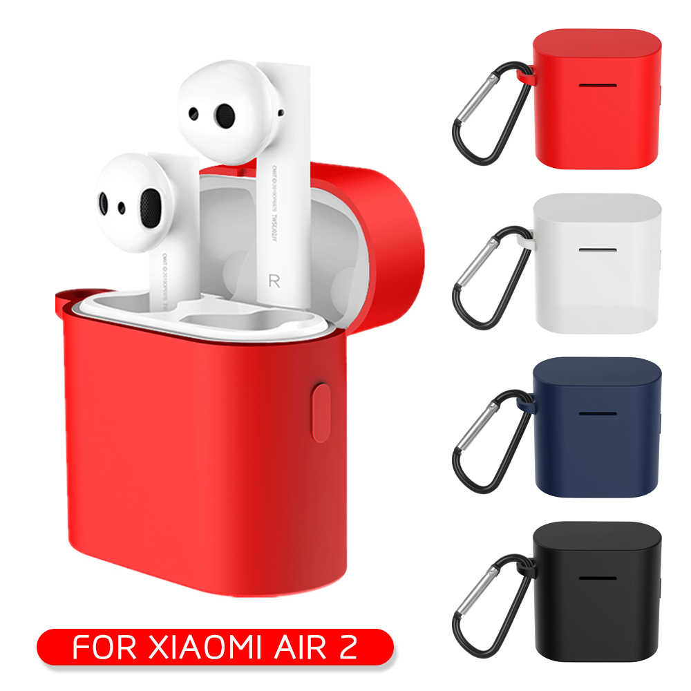 Silicone Earphone Case For Xiaomi Air 2 Shockproof Protective Cover Pouch For Xiaomi Mi Air 2 TWS Wireless Bluetooth Headset
