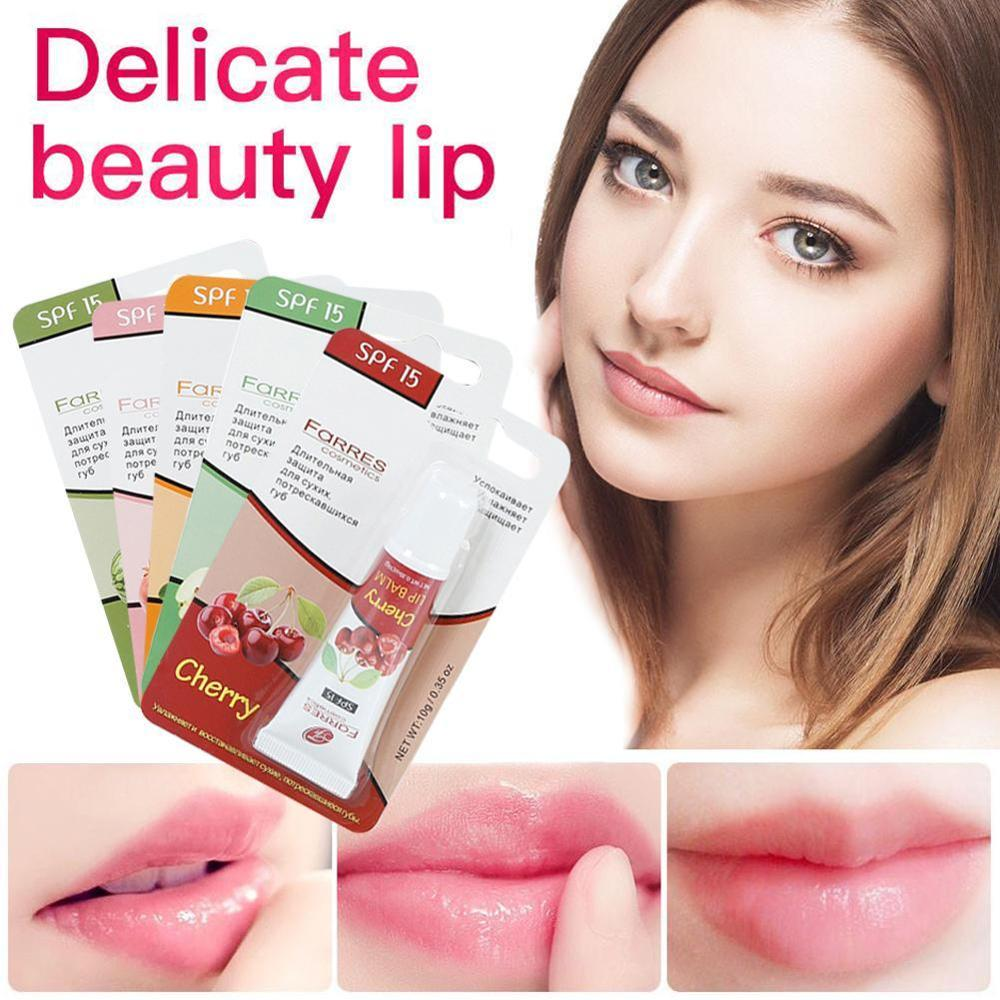 Fruit Extract Lip Care Liquid Lip Balm Gel Moisturizing Exfoliating Anti-cracking Lip Oil Lip Tint Winter Daily Protect image