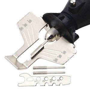 Image 5 - Цепная пила, зубчатые шлифовальные инструменты, долговечное приспособление для заточки, острый электрический шлифовальный станок, инструмент для наружного сада