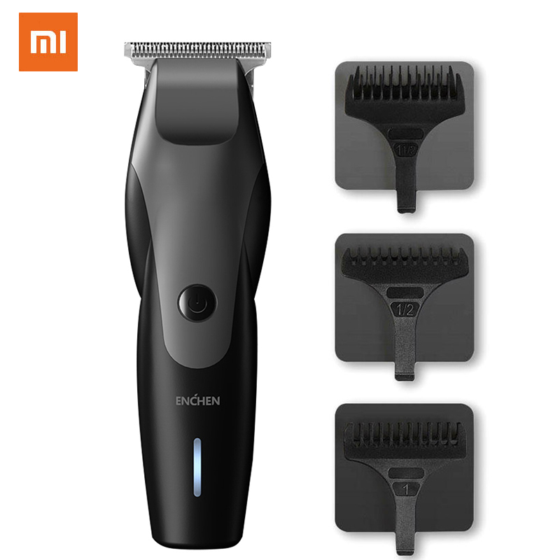 XIAOMI Hummingbird Electric Hair Clipper USB Charging With Low Noise Hair Trimmer With 3 Hair Brushes Black Professional Razor