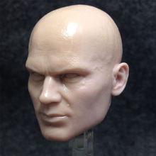 Неокрашенная в масштабе 1/6 мужская модель для резьбы виде головы