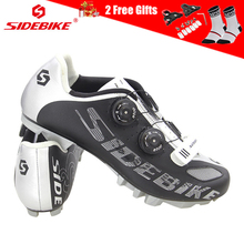 SIDEBIKE Pro Breathable Mens Cycling Mountain Bike Shoes Non-slip Buckle Sneakers Triathlon Bicycle Mtb Zapatos Ciclismo