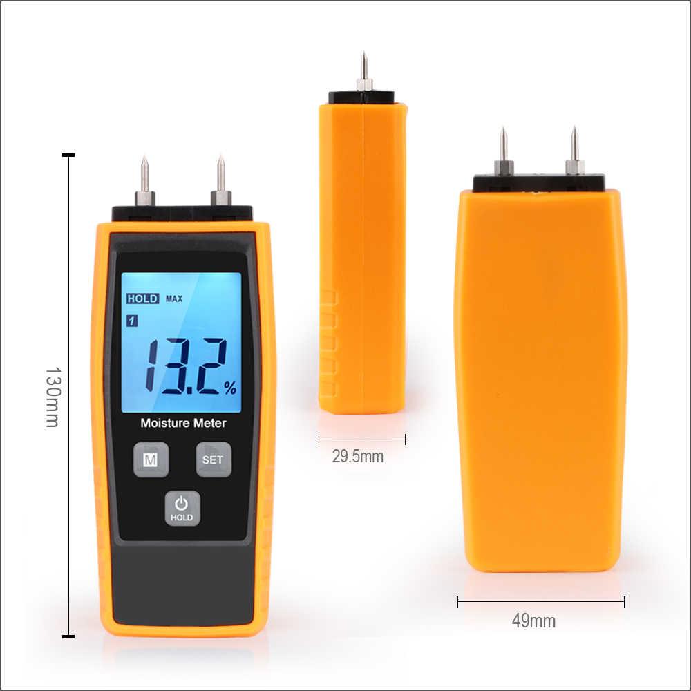 Digital Wood Brick Moisture Meter Humidity Tester Timber Damp Detector MD816