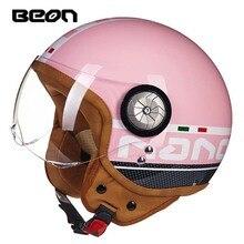 Cztery sezony kask motocyklowy mężczyźni kobiety BEON Motocross jazda 3/4 skuter elektryczny для самоката chluba
