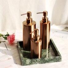 Скандинавский шампунь для ванной бутылки для хранения шикарный металлический бутылка-органайзер простой душевой гель