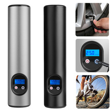 Black/Silver Car Air Pumps Electric Tire Inflator Bike Pump Wireless Inflatable Aluminum Alloy Accessories