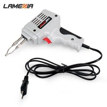LAMEZIA 220v 100w EU Plug Electric Soldering Iron Kit Fast Welding Gun Set Portable Power Tools
