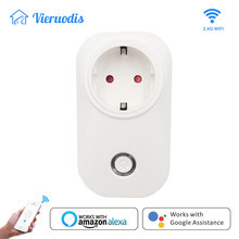 WIFI Smart Plug wifi Socket Outlet Switch EU Timing Wireless Voice Intelligent Control