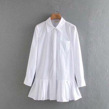 Vestido corto plisado de manga larga para mujer, ropa elegante de negocios,...