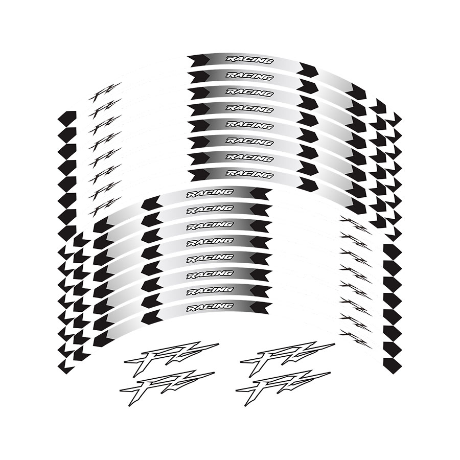 New high quality 12 Pcs Fit Motorcycle Wheel <font><b>Sticker</b></font> stripe Reflective Rim For Yamaha FZ1 FZ6 <font><b>FZ</b></font>-07 FZ8 <font><b>FZ</b></font>-09 <font><b>FZ</b></font>-10 FZS1000 image