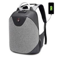 2018 Men 15.6 Laptop Backpack Anti Theft Backpack Usb Charging Men School Notebook Bag Oxford Waterproof Travel Backpack