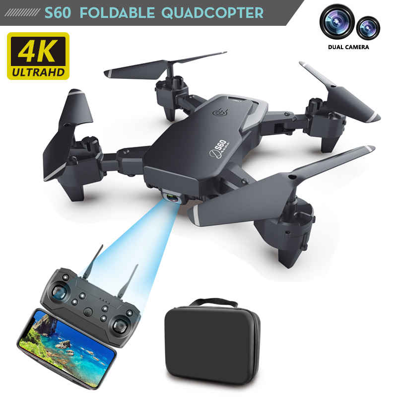 BENTOBEN RC Mini Drone 1080P 4K HD Dual Camera Professional Aerial Photography Helicopter Foldable Quadcopter Dron Toys Gift