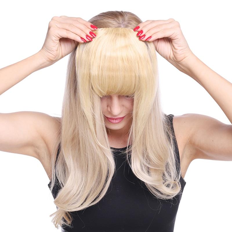Toysww aplique de cabelo humano, máquina remy