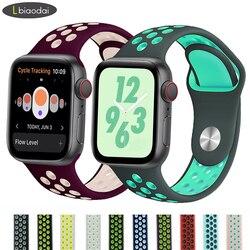 Banda Strap para apple watch 4 correa apple watch 42mm 38 mm 44mm 40mm iwatch série 5 4 3 2 silicone pulseira pulseira pulseira
