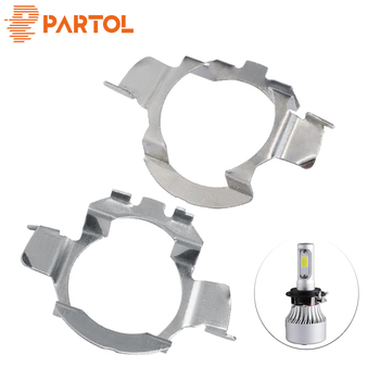 Partol H7 LED Headlight Bulb Retainer Adapter Holder for BMW X5 AUDI A3 A4 H7 Bulb Adaptor Base for VW Buick NISSAN Mercedes-Ben image