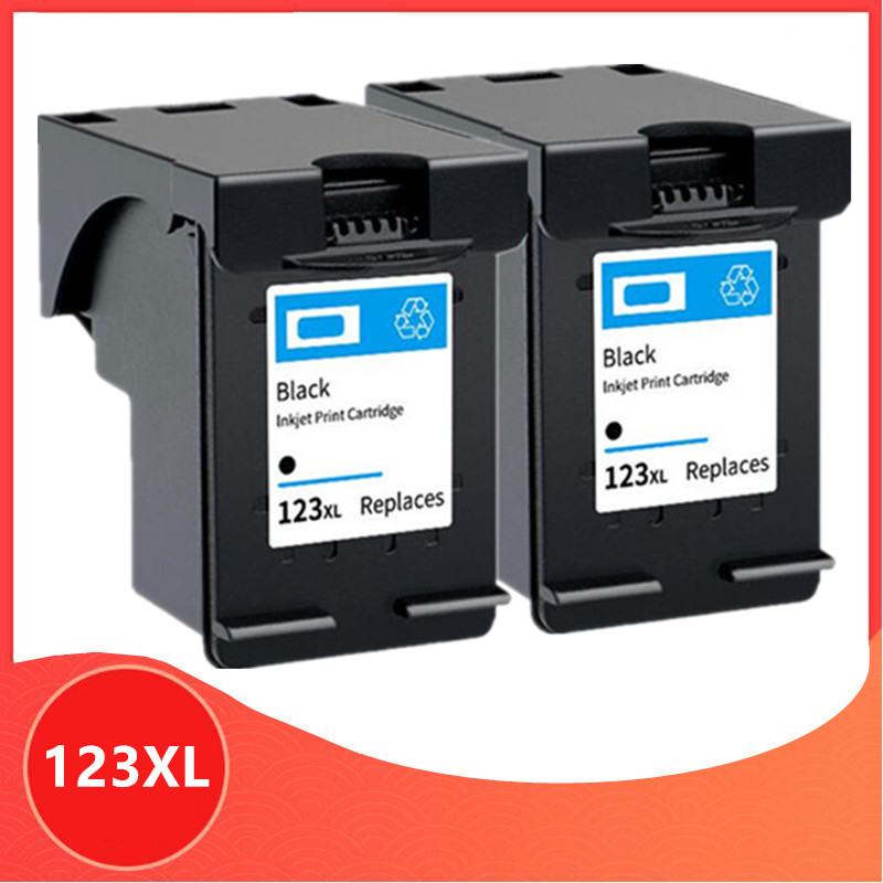 2pk Black Compatible for <font><b>hp</b></font> 123 XL Replacement ink Cartridge for hp123 123XL for Deskjet 1110 2130 2132 2133 2134 <font><b>3630</b></font> 3632 3637 image