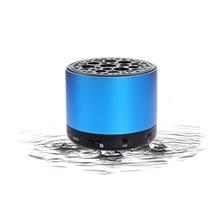 Portable Bluetooth Speaker Wireless Metal Waterproof Outdoor Mini Blue