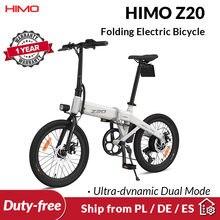 STOCK europeo HIMO Z20 bicicleta eléctrica Ultra-dinámica de modo Dual plegable de bicicleta 250W 10Ah al aire libre bicicleta urbana 80KM millas de playa de la E-bici