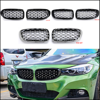 For Bmw F52 F45 F30 F10 G30 F34 F49 G01 F15 F16 E70 E71 G20 E90 Z4 E89 Car Tuning Front Diamond Kidney Silver Grill Mesh Grille