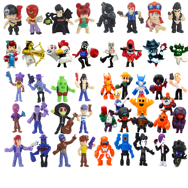 Brawls Figure Game Cartoon Star Hero Model Spike Shelly Colt Leon PRIMO MORTIS Doll New Year Xmas Toy Gift For Boy Girl Kids
