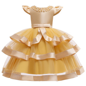 Image 3 - 夏の子供のドレス子供刺繍レースのため 2 3 4 5 6 7 8 9 10 歳の誕生日パーティードレス