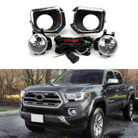 1set Car Fog Lamp Assembly For Toyota Tacoma 2016 2017 Front Bumper Lamp Car Headlight Halogen Bulb with Wiring & Switch