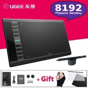 UGEE M708 8192 уровней 10x6 дюймов, умный графический планшет для рисования, цифровой планшет для рисования, профессиональный дизайнер, wacom