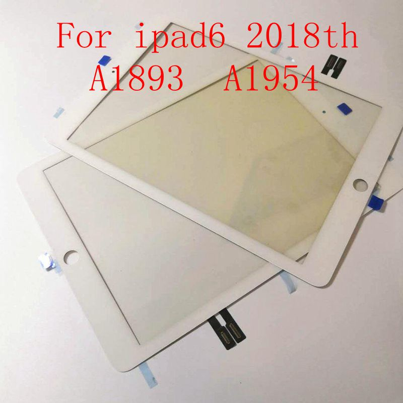 For IPad 9.7 (2018 Version) For IPad 6 6th Gen A1893 A1954 Touch Screen Digitizer Front Outer Panel Glass With Glue