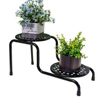 Estante de hierro para flores, estante para flores, estante de Interior para sala de estar, escritorio de balcón, estante para flores de varios pisos, estante para macetas de flores de piso a piso