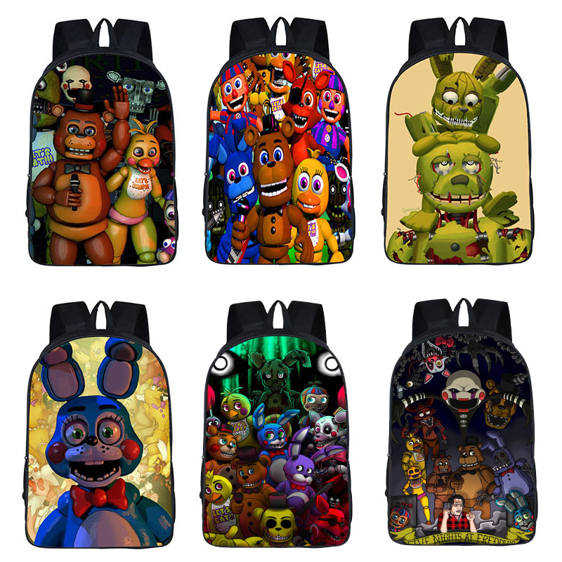 2019 Five Nights At Freddy's Student School Bags Boys Girls Backpack Kids Gift Anime FNAF Bag Action Toys Kid Christmas Gift Toy