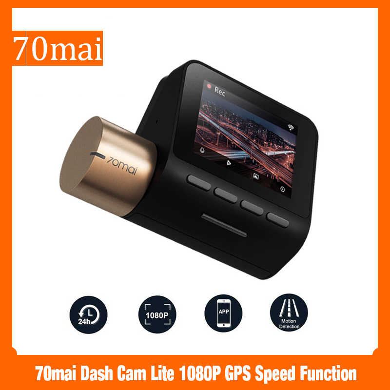 70mai Dash Cam Lite 1080P GPS Speed Function 70 Mai Cam Lite 24H Parking Monitor 130FOV Night Vision 70MAI Wifi Car DVR