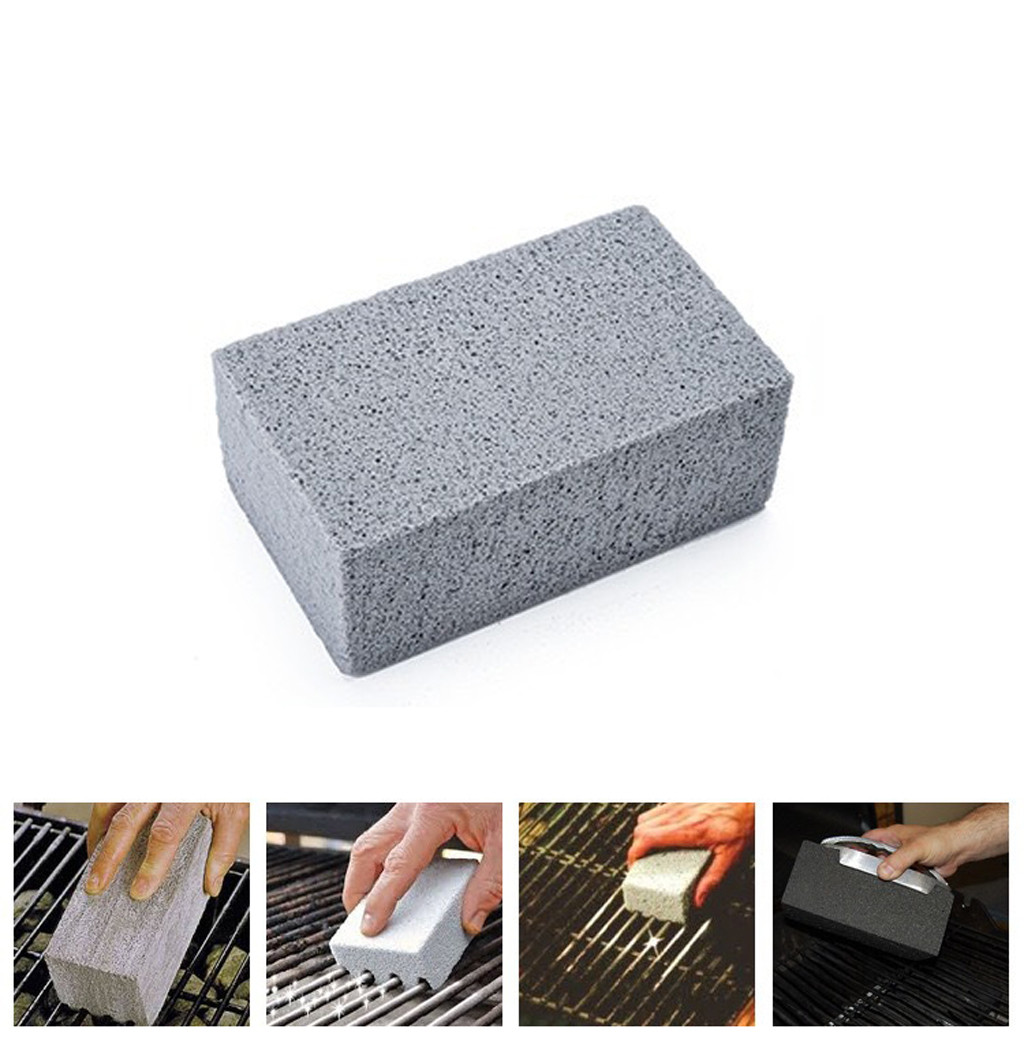 1Pcs BBQ Cleaning Stone Non Slip Handheld Odorless Grill Scrub Brick Block Barbecue Scraper Griddle Removing Stains Brush