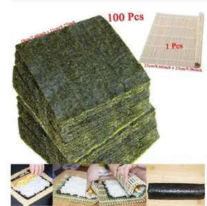 Sushi Seaweed Nori Dried Laver for Wholesale High-Quality 50-100pcs