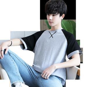 Image 5 - 여름 남성 t 셔츠 짧은 소매 7 남성 ulzzang 조수 느슨한 5 및 절반 슬리브 xueshengchao 브랜드 의류