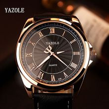 YAZOLE 2019 Men Business Quartz Watch Top Brand Luxury Famous Wristwatch Male Clock Wrist Watch Quartz-Watch Relogio Masculino yazole brand fashion business leather men watch top brand luxury famous male clock luminous rome quartz watch relogio masculino