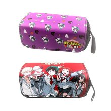 Anime My Hero Academia DEKU Pencil Case Canvas Zip Super Big Capacity Pen Bag Makeup Stationery Pouch Office School Supplies(China)