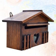 Wooden Mailbox Letter-Box Outddor-Post-Box Home-Company for 1PC Creative Rainproof