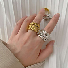 Женское кольцо в уличном стиле ручной работы с цепочкой отверстиями