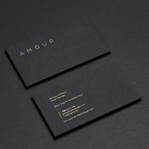 Image 4 - 高 グレード金箔鋭利な黒のカード凹凸ホットスタンプシルバー uv カード印刷カスタム
