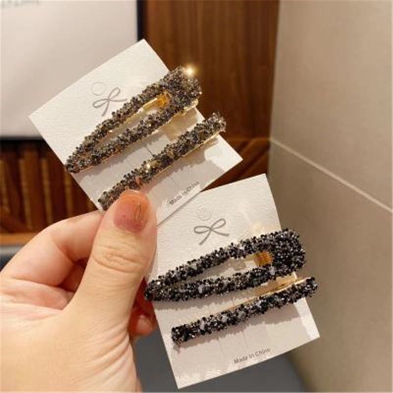 2PCs 2020 new Crystal Hairpins Big Hair Clip for Women Girls Rhinestones Clips Pins Barrette Hair Accessories