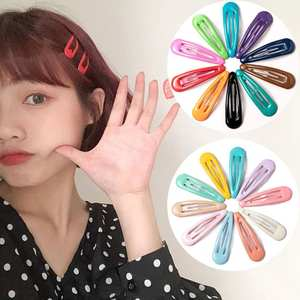 Colorful 40Pcs Dark Color Cute Snap Baby Child Pins INS Fashion Hairclips Metal Barrettes Styling Accessories (with Storage Bag)
