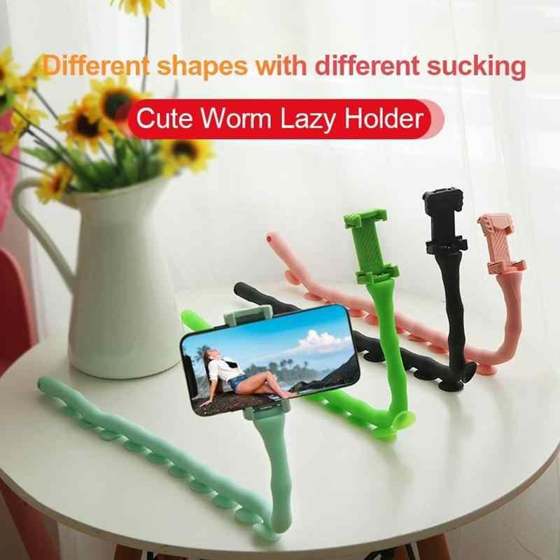 น่ารัก Caterpillar Sloth โทรศัพท์มือถือวงเล็บหนอน Live Bracket ดูดถ้วยสนับสนุนโต๊ะ TOP เสา